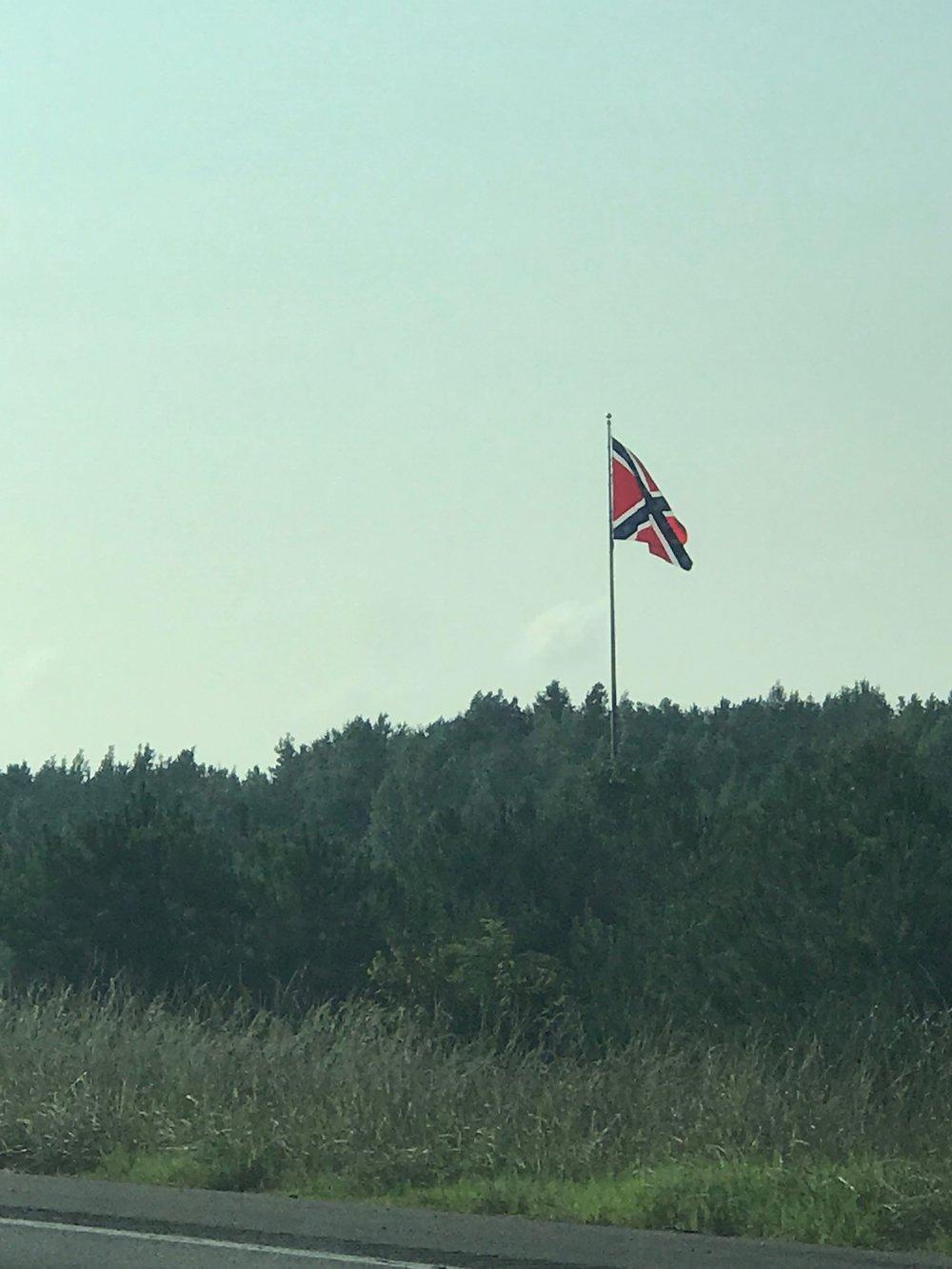 Huge Confederate Flag in Cordova, Alabama
