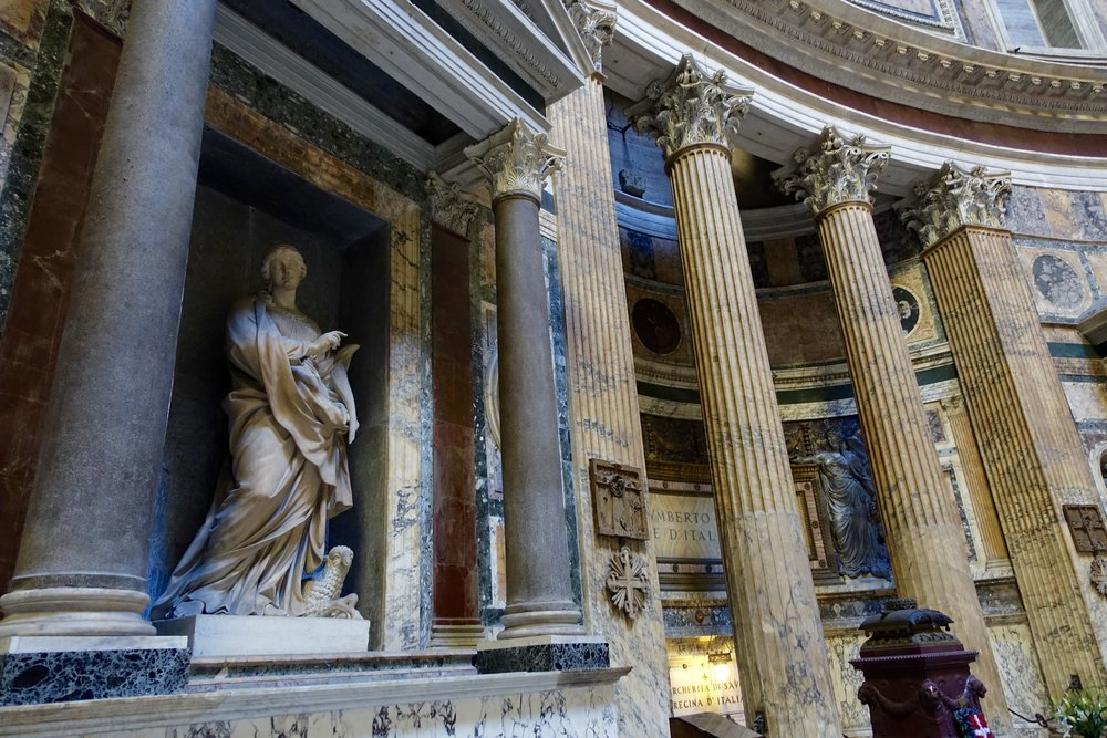 The grandeur of the pantheon