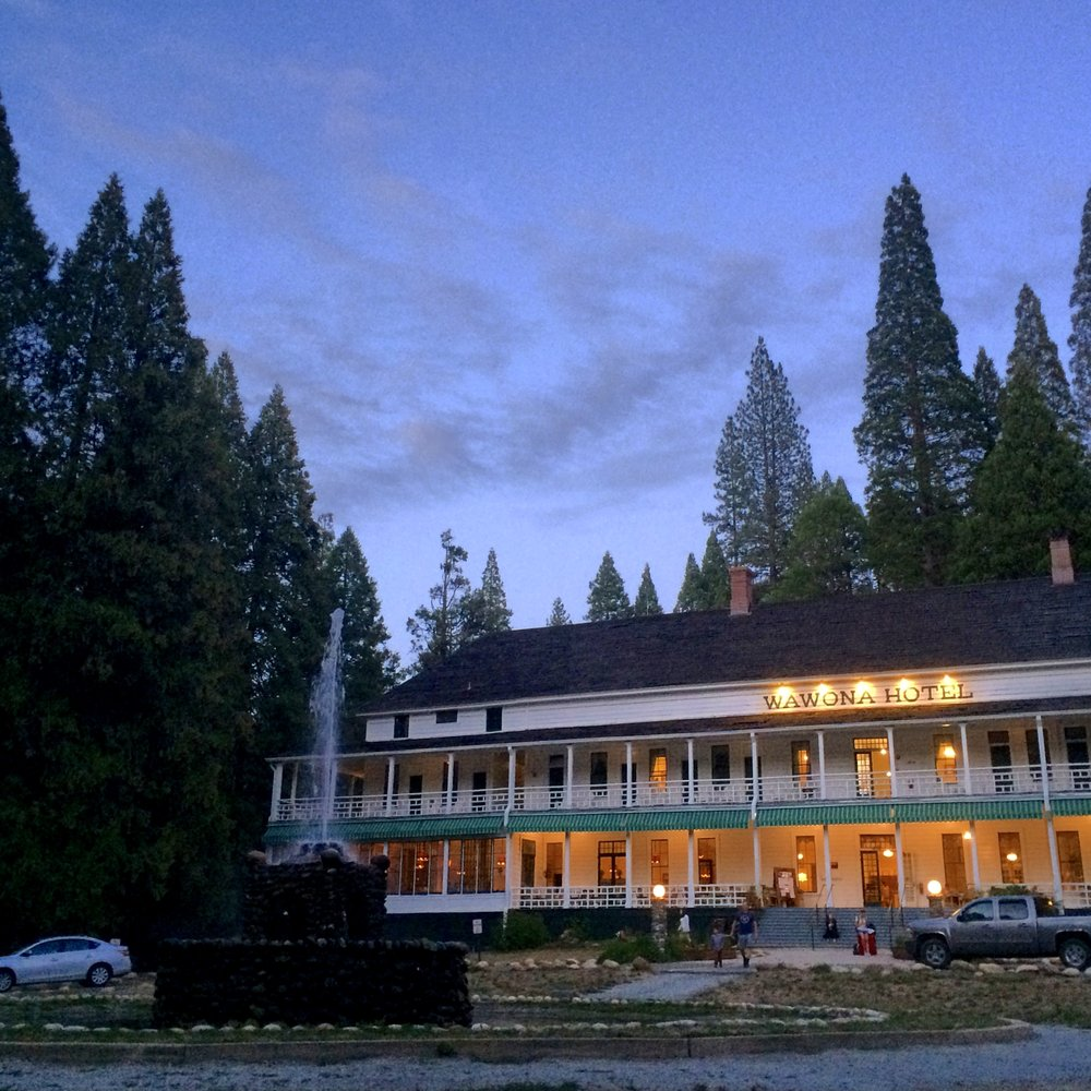 EVENING AT THE BIG TREES LODGE (FORMERLY WAWONA HOTEL)