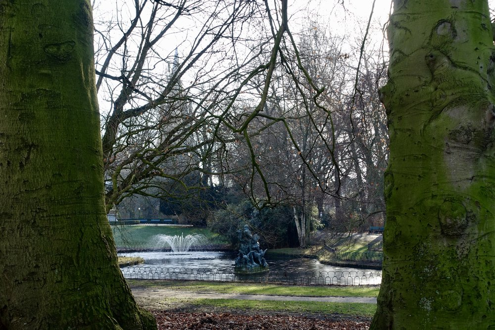 Astridpark, one of the largest parks in Bruges, dating back to 1850