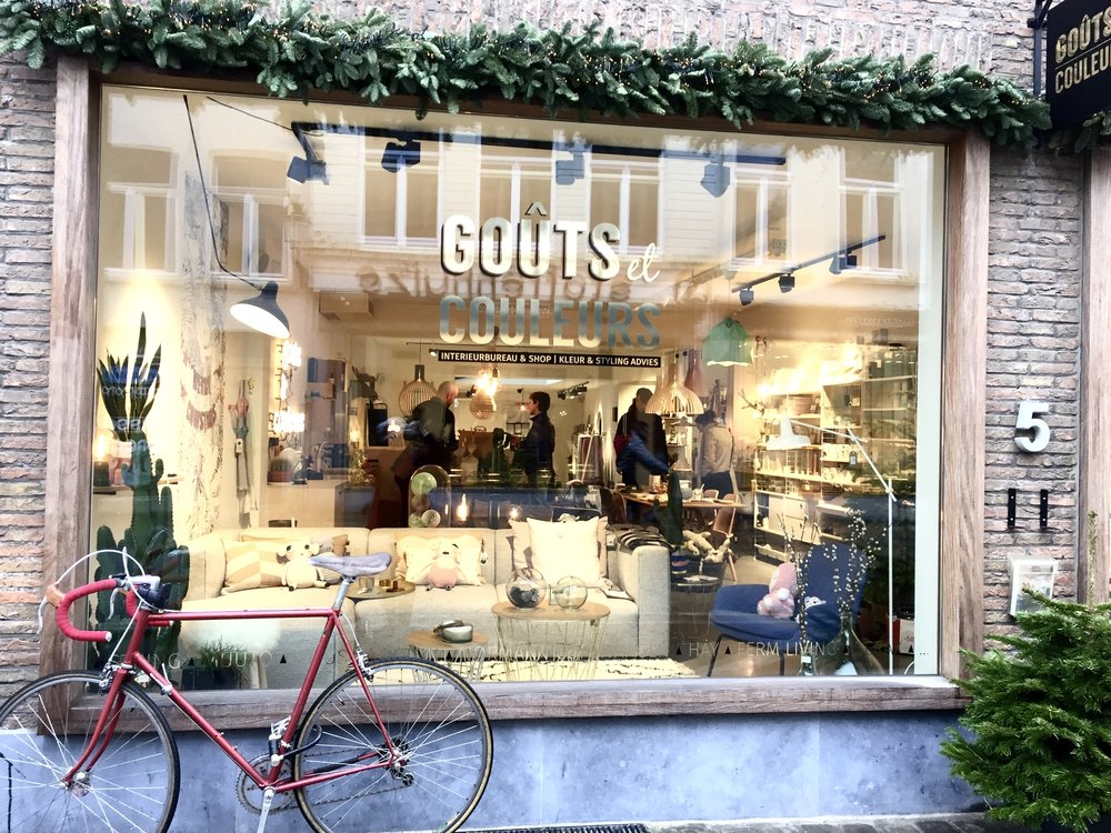 A lovely interior design and home furnishings store, Goûts et Couleurs