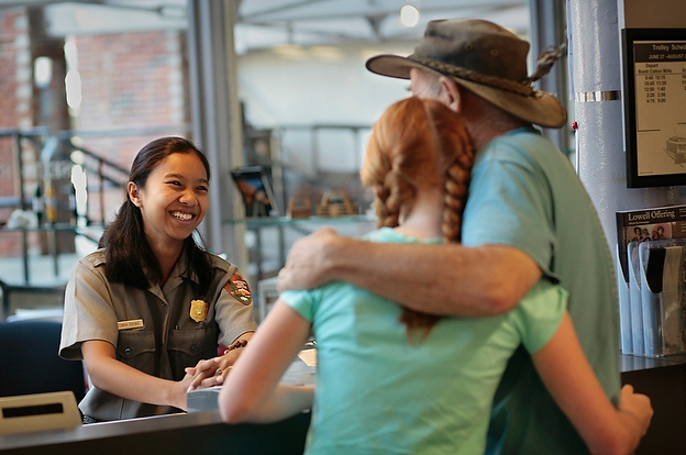 Start your National Park visit with the helpful Park Rangers.  Photo courtesy NPS