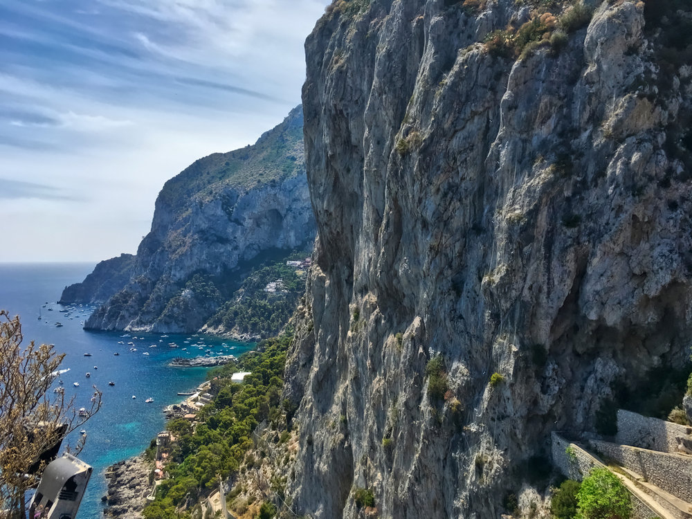 Exceptional Views from botanical garden Giardini di Augusto on the island of Capri