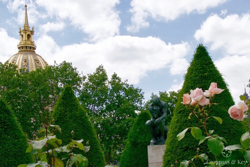 the gardens of musée rodin