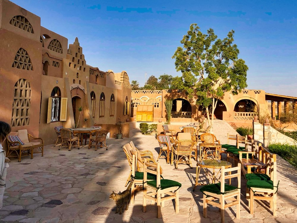 The Terrace at Eskalah Nubian Ecolodge Outside of Abu Simbel