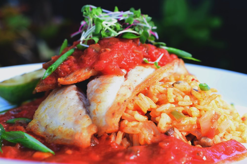 Caribbean-inspired Cuisine featuring fresh seafood / Photo By Mangoes Restaurant, Key West