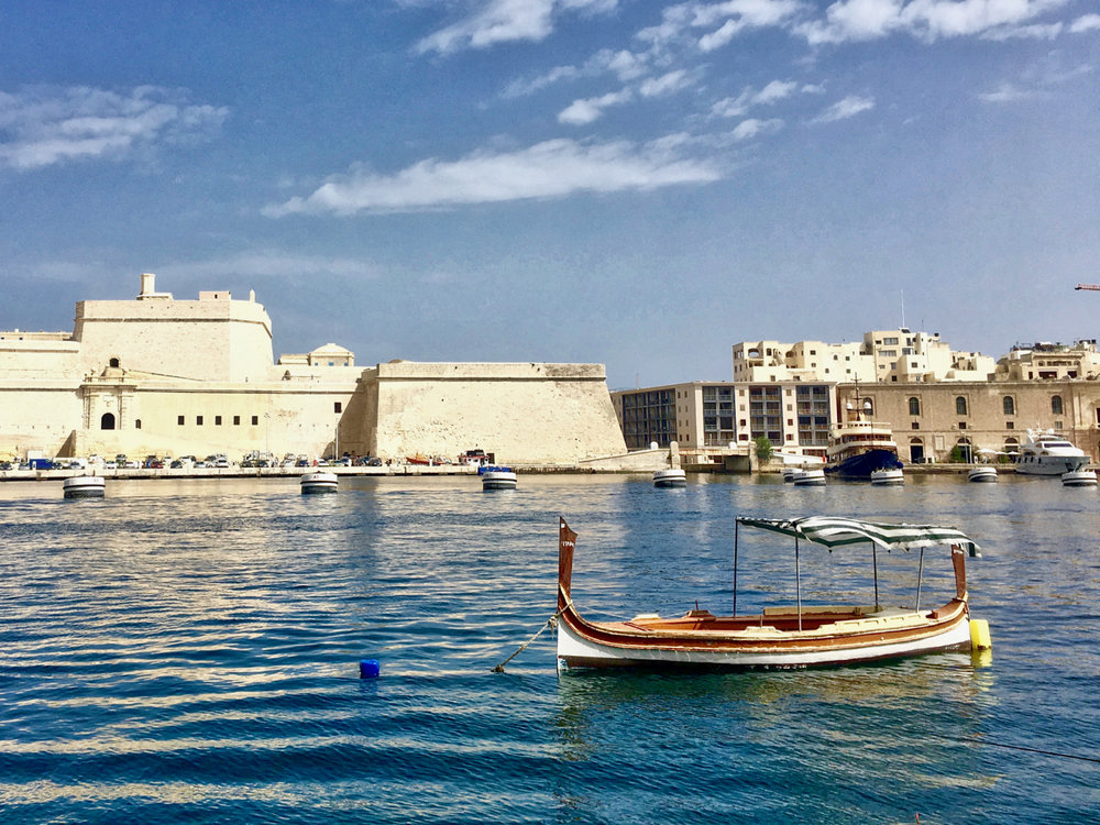 Fort St. Angelo, a historic fortress of malta, located  in Birgu, one of the famed Three Cities