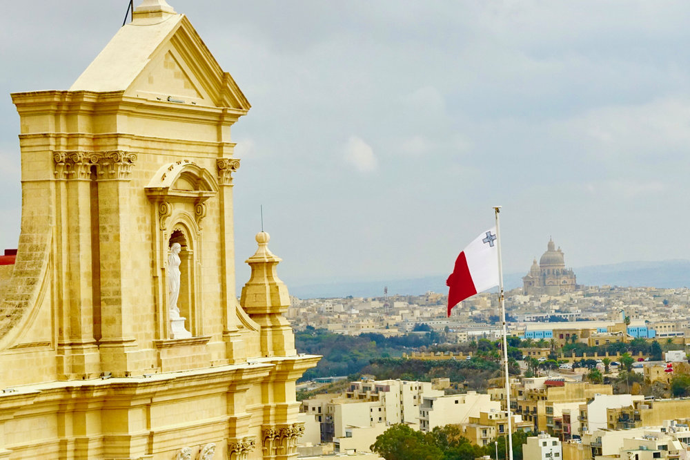 Views from The Citadel Across Gozo