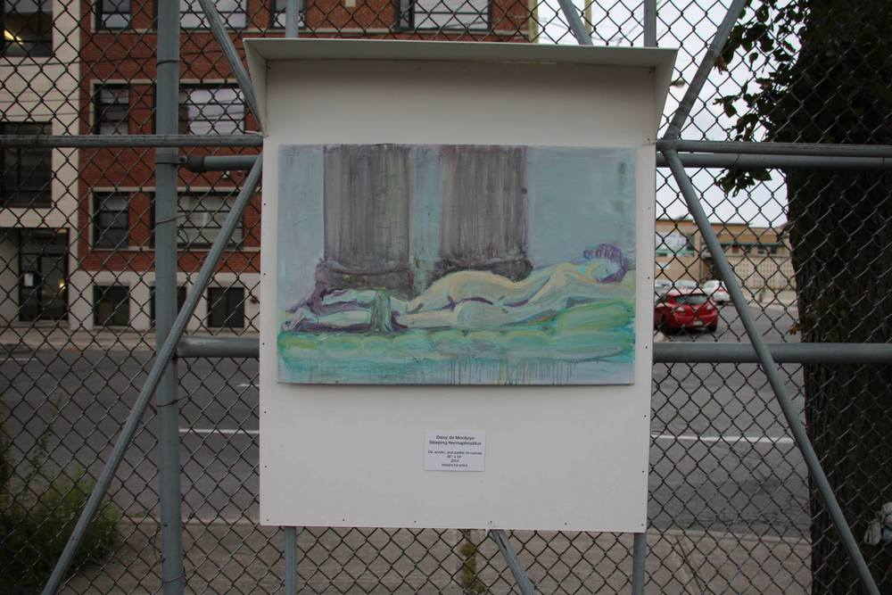 Sleeping Hermaphroditus / Daisy de Montjoye / Oil, acrylic, and pastel