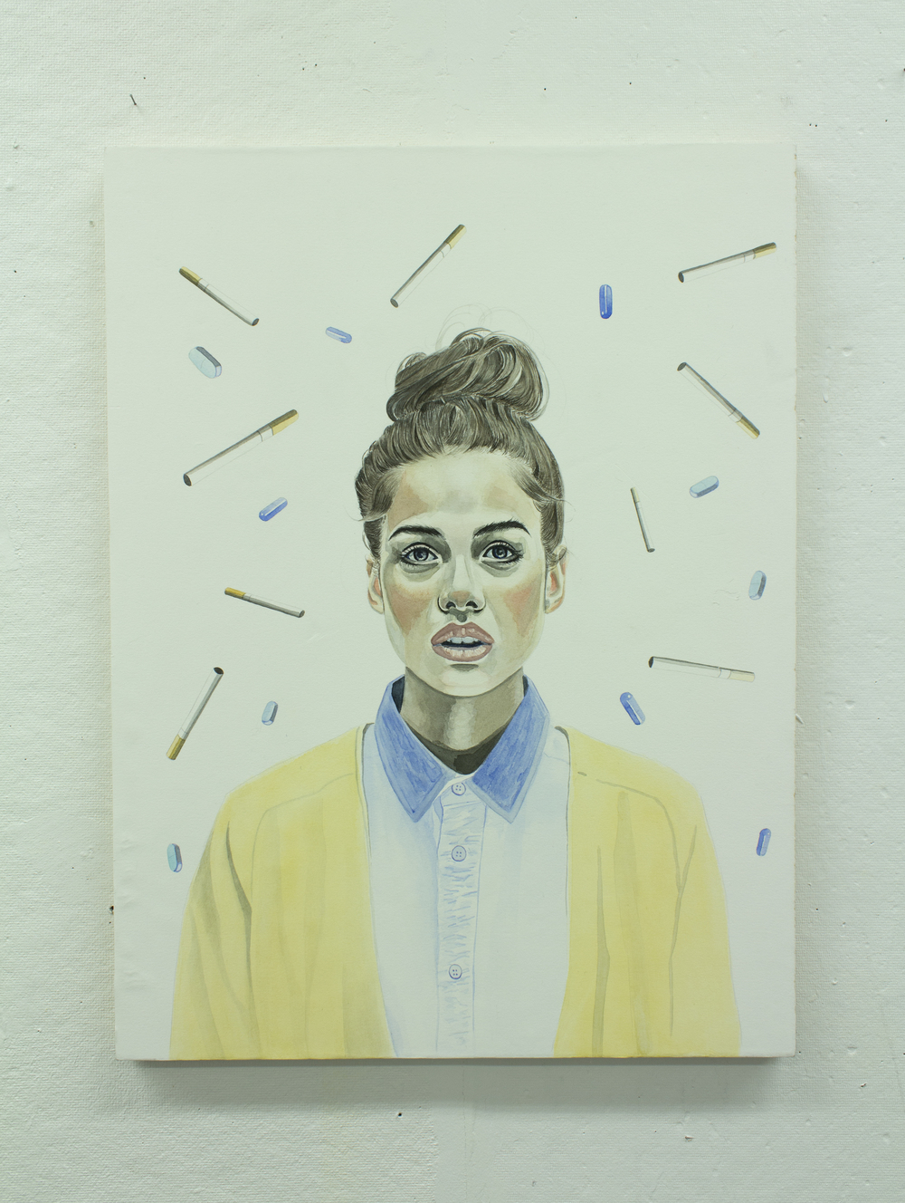 Mental States / Mackenzie Hyde / Watercolour on wood panel