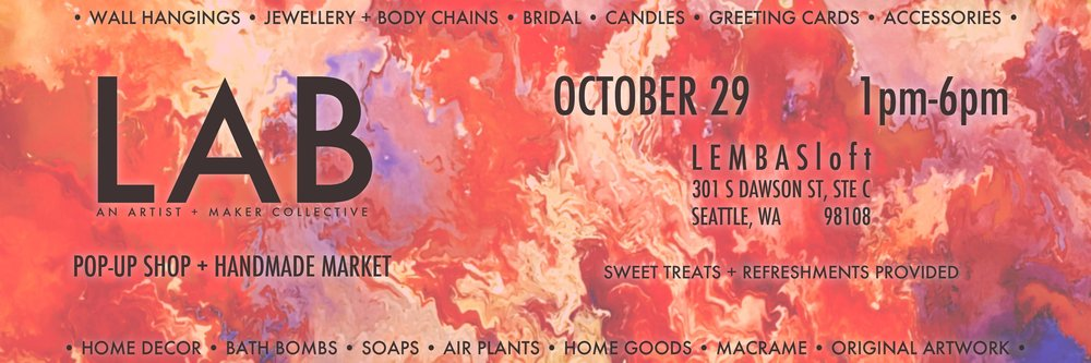 LAB pop-up shop + handmade market FALL edition