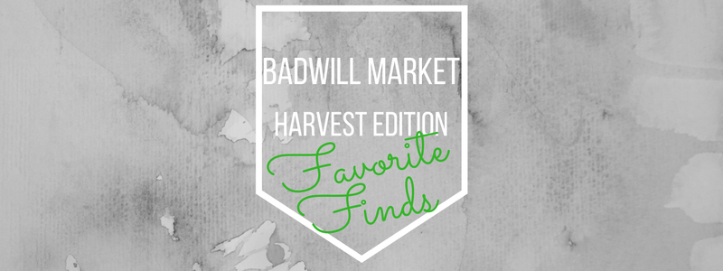 BadWill Market Harvest Edition Favorite Finds