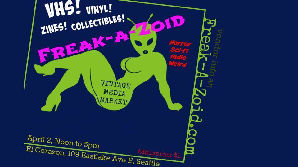 Freak-a-zoid vintage media market