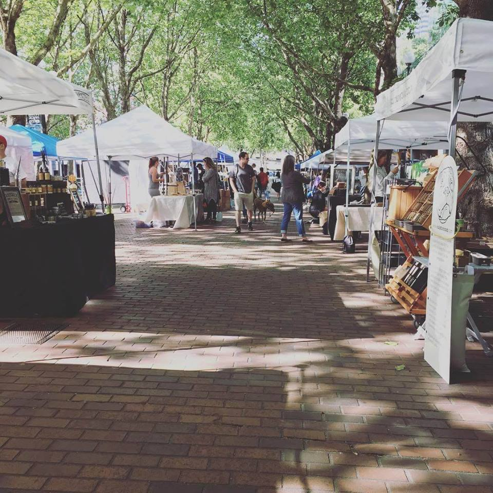 Urban craft uprising first thursdays in Occidental Square