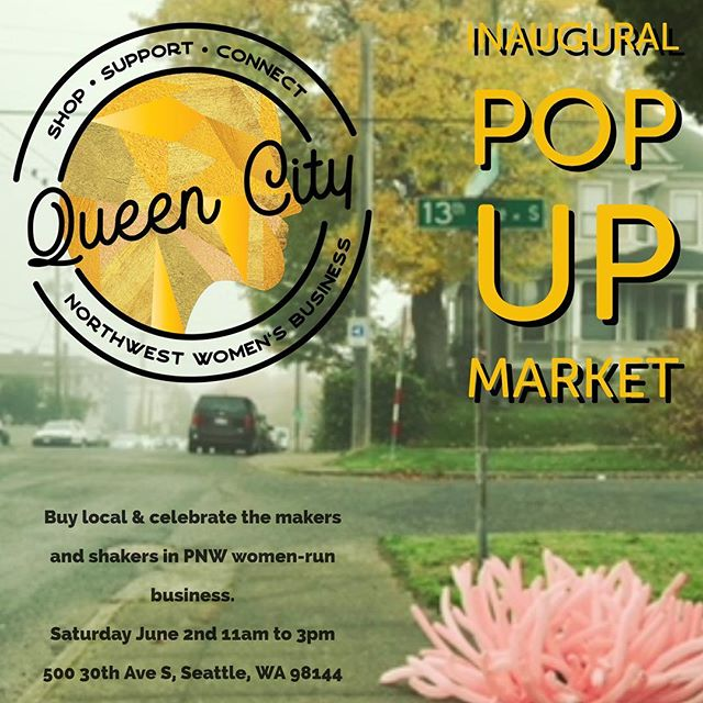 We can't wait to check out @queencityseattle inaugural pop up market this Saturday! Shop local, women-owned business! PLUS they'll be donating a portion of their profits to @jubileewomenscenter ✨🙌 Follow @queencityseattle to preview the vendor lineup! . . . #seattle #shoplocal #shopsmallseattle #pnw #womeninbusiness #bossbabe #girlboss #supportlocal #queencity #popupshop #popupmarket #shopping #handsandhustle #handmade #handcrafted #handmadejewelry