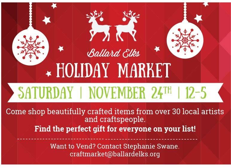Ballard Elks Holiday Craft Market