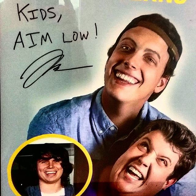 "Best advice ever! ""Kids, Aim Low!"""