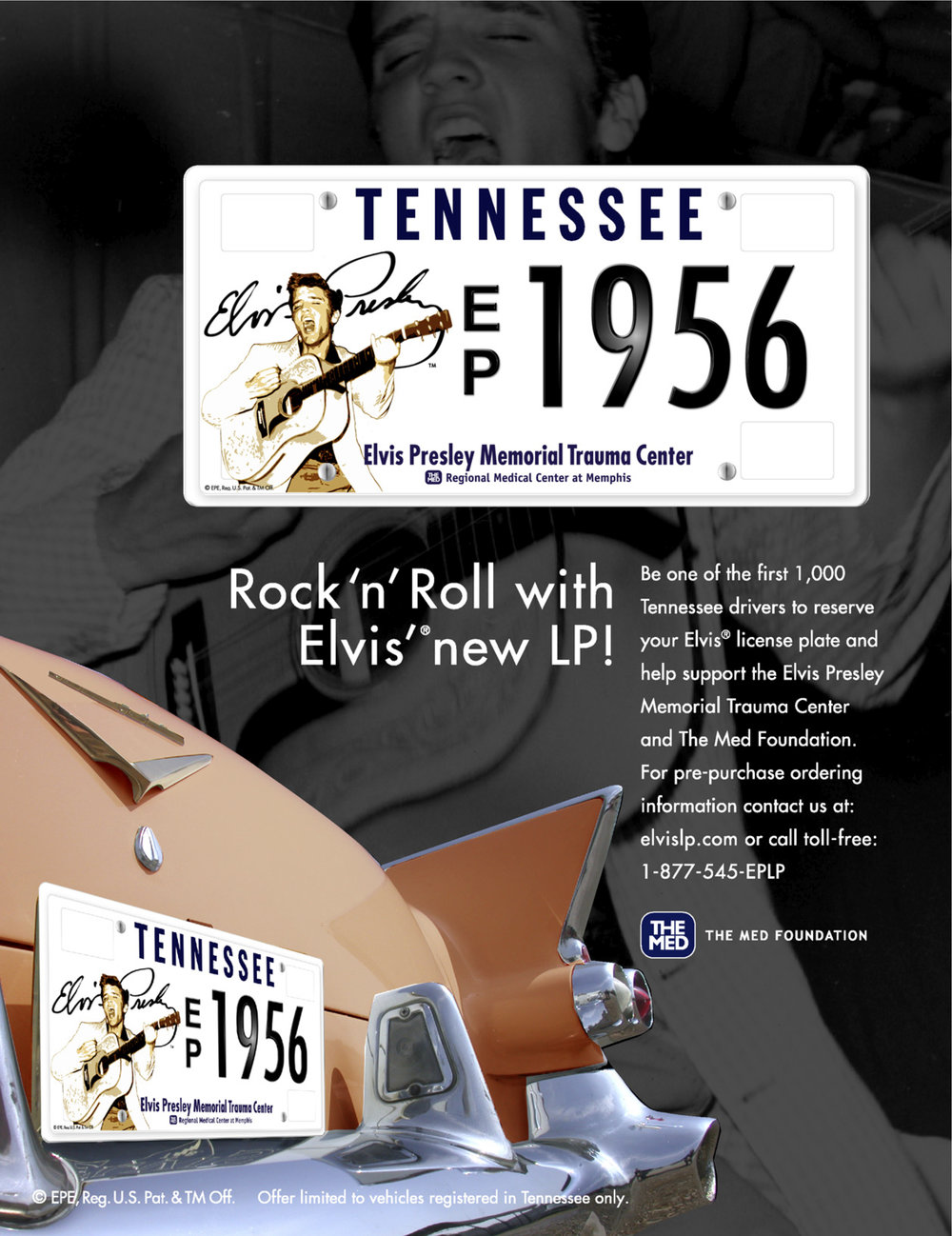 Elvis Presley Official Tennessee License Plate — MITCHELLWORKING