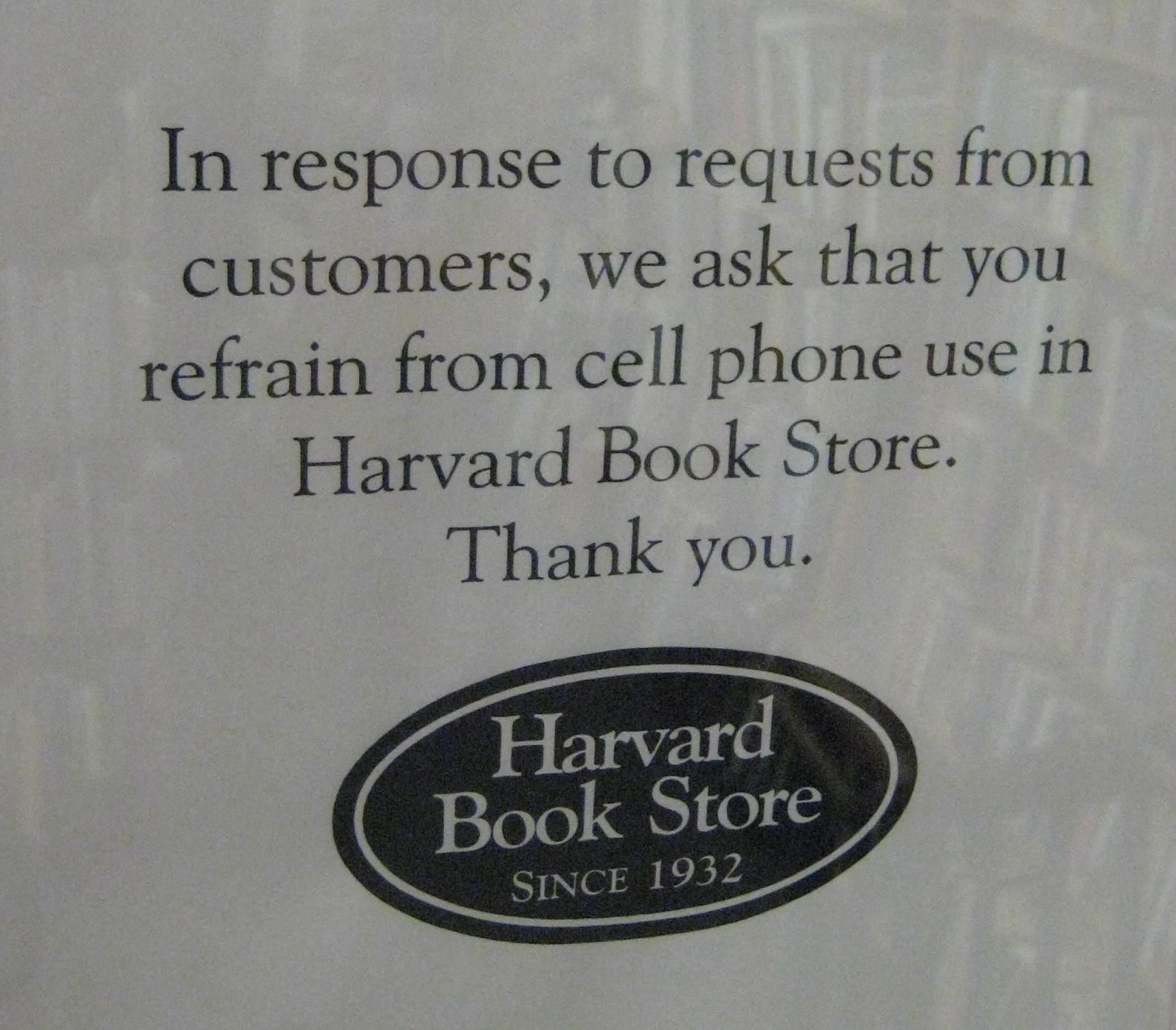 Seen at Harvard Book Store, Cambridge, Massachusetts