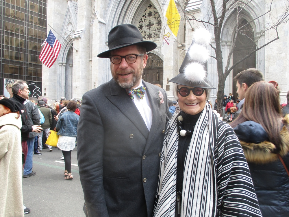 Etiquetteer with one of the  Idiosyncratic Fashionistas  at the Easter Parade.
