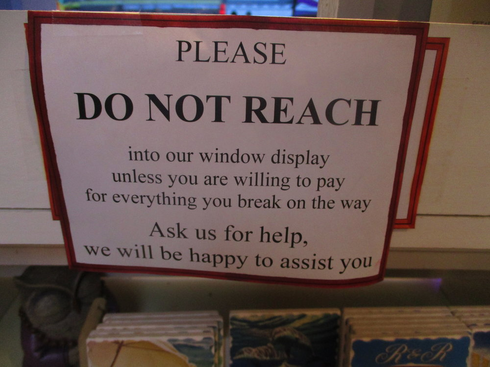 Etiquetteer trembles to think about the experience that led to this sign being posted.