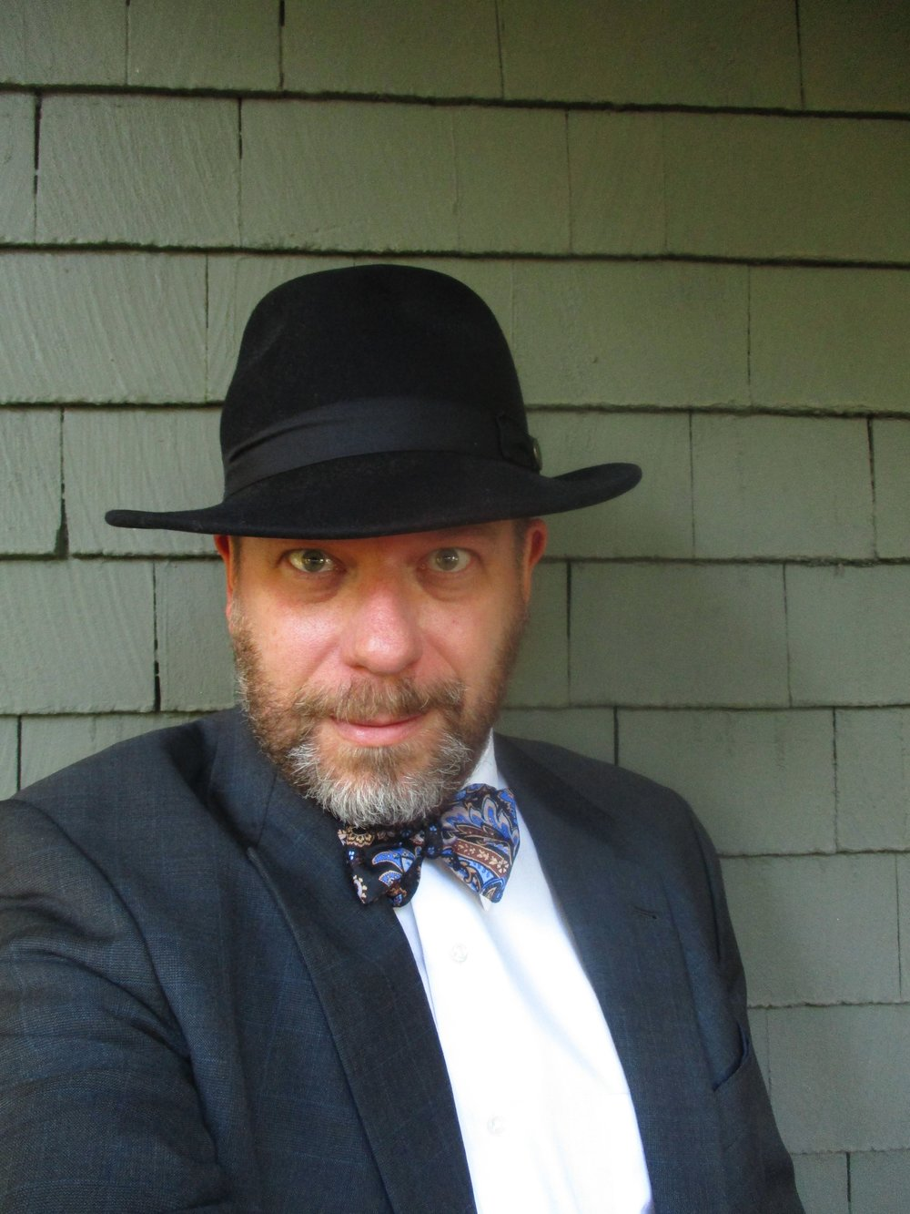 Etiquetteer is ready for Felt Hat Day with a favorite fedora.