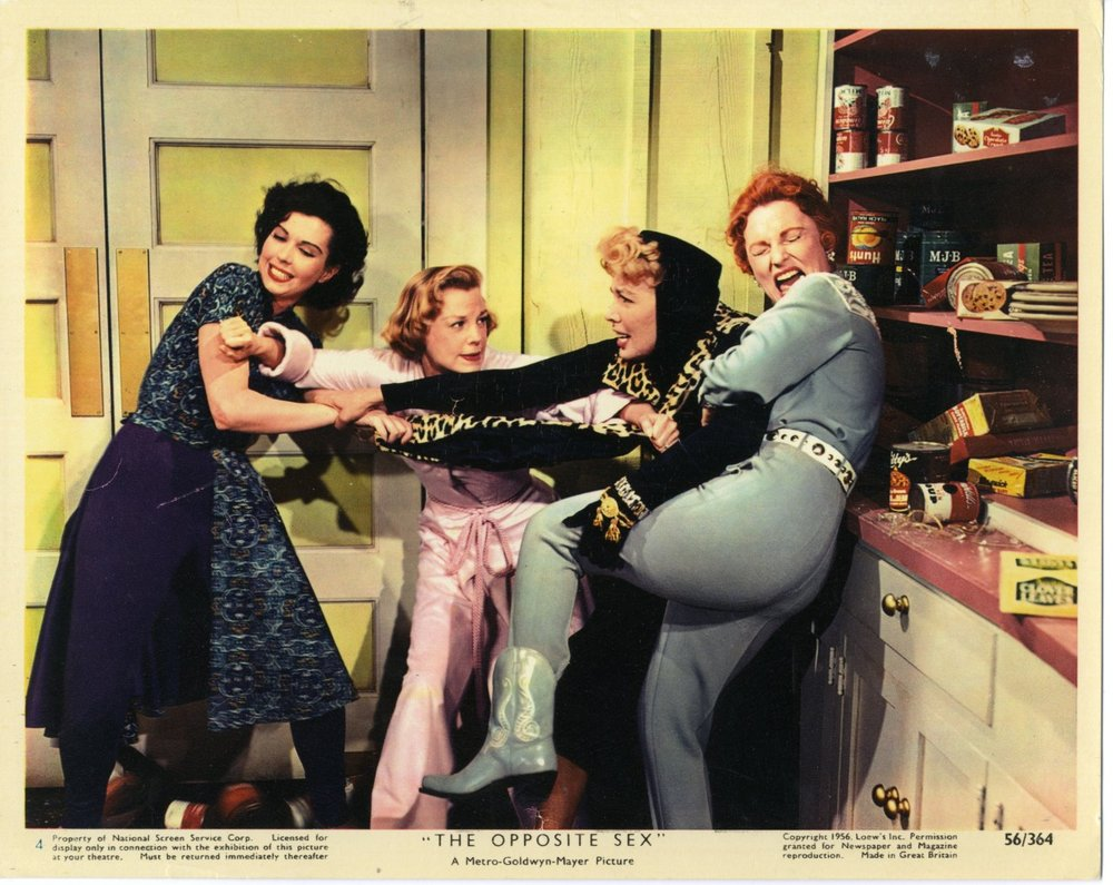 Ann Miller, June Allyson, Dolores Gray, and Agnes Moorehead destroy the kitchen.