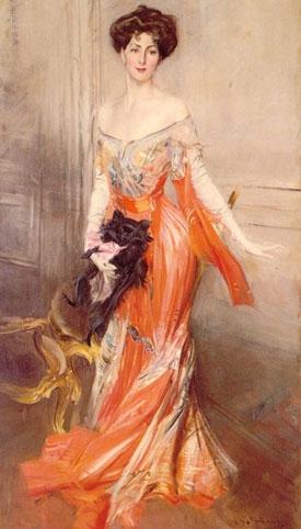 Giovanni Boldini's portrait of Elizabeth Drexel Lehr.