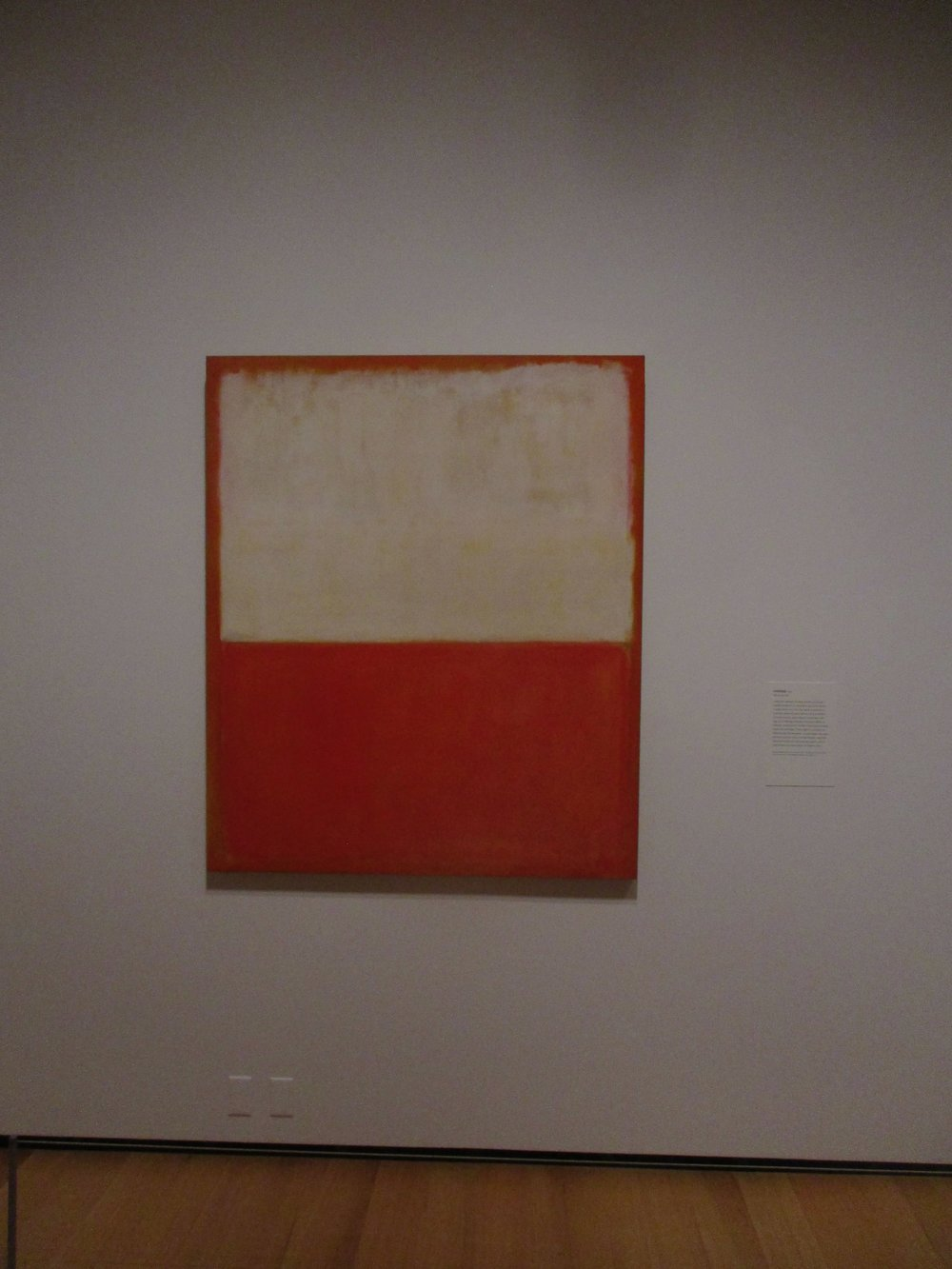 My favorite of the Rothkos. Unsurprisingly, it's orange.