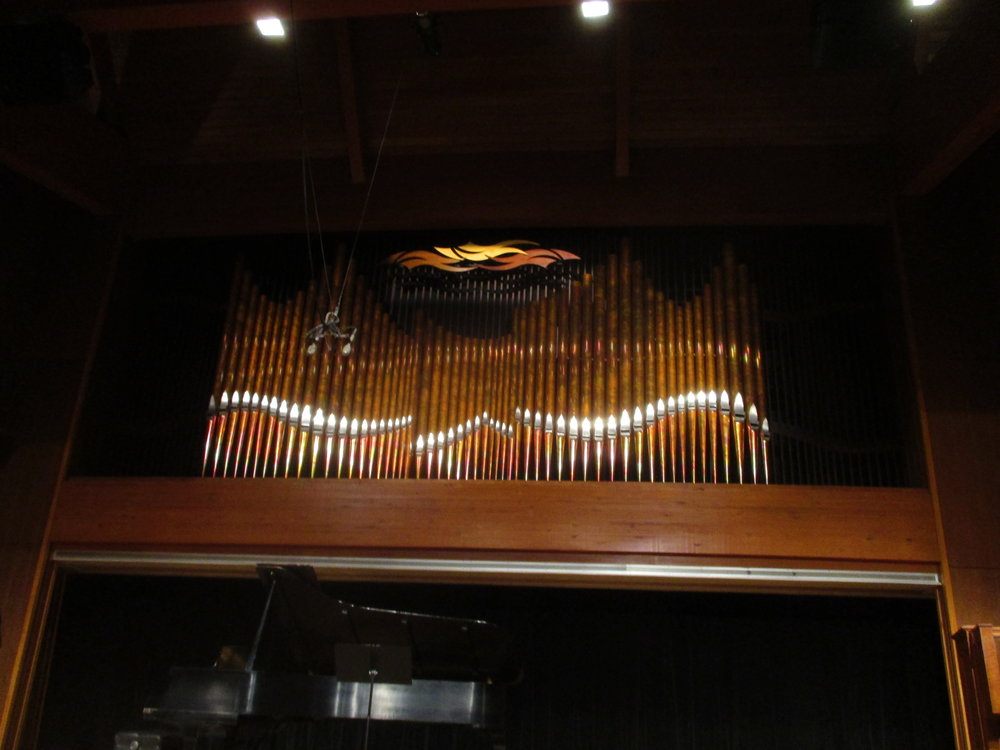 When the chapel was renovated a few years ago, they updated the organ ranks.
