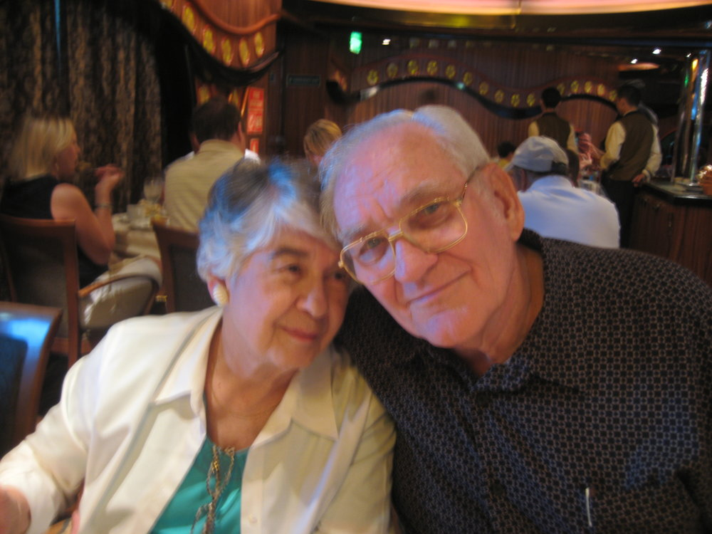 Mother and Daddy on our family cruise in 2010.
