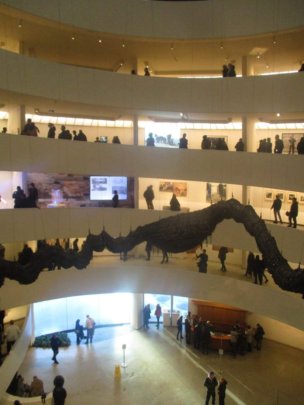 A large intestine has colonized the Guggenheim.