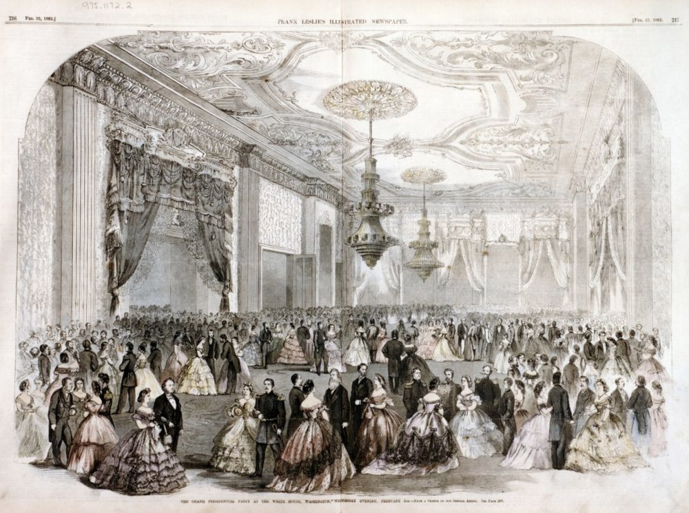 The Grand Presidential Party of 1862, as depicted in Frank Leslie's Magazine.