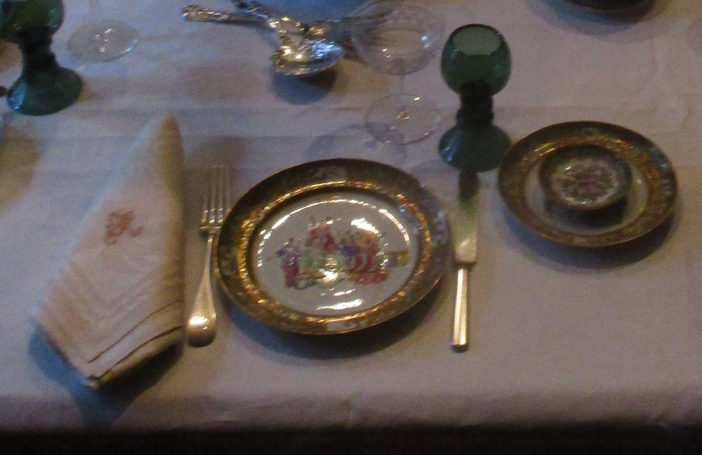 A table setting at the Gibson House Museum.