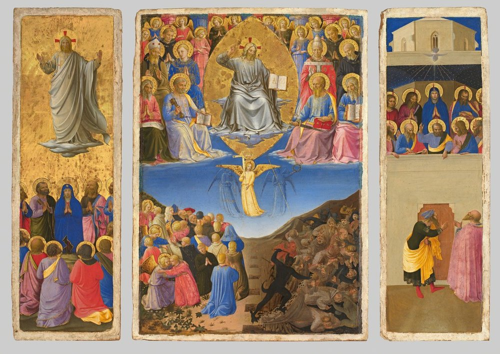 The Corsini Triptych: The Ascension, Last Judgment, and Pentecost. (Not my photo!)