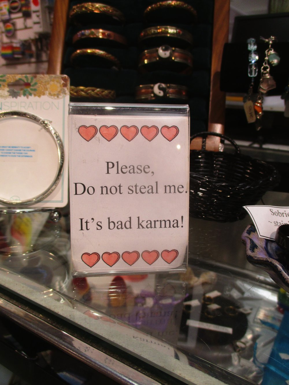 In a shop in Provincetown, Massachusetts.