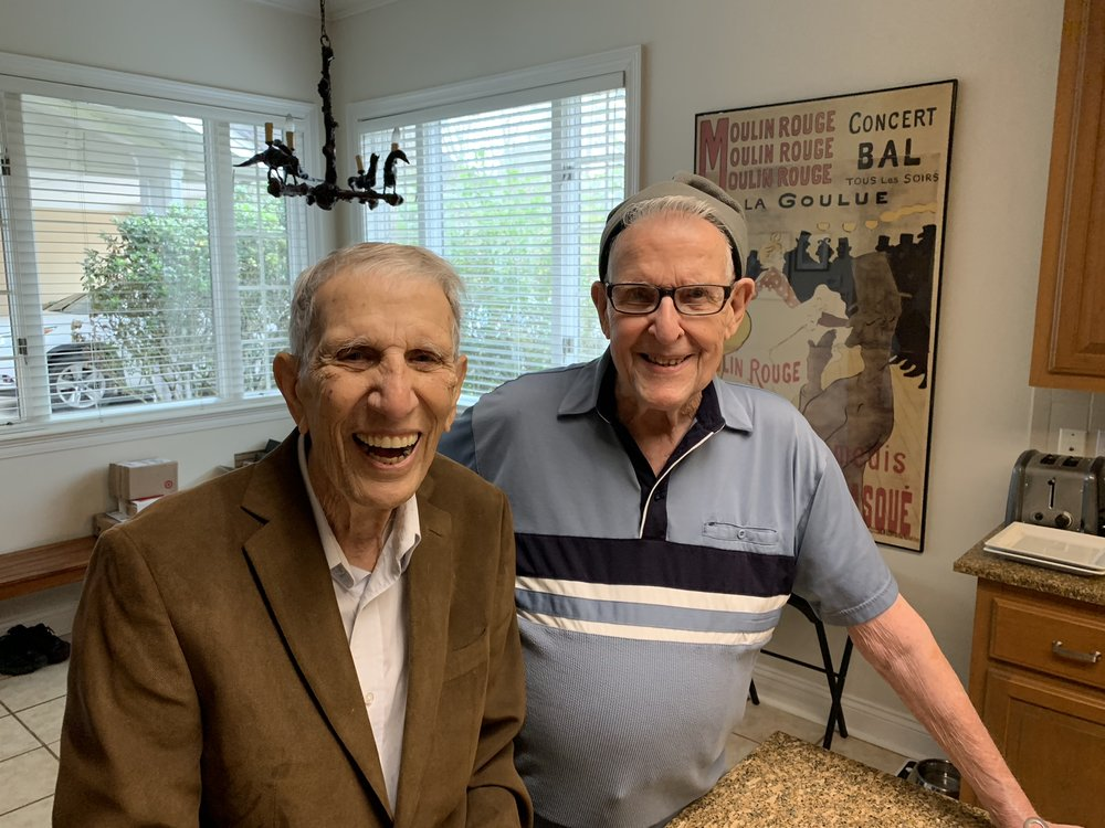 The Boudreau brothers, Robert and Jerry, who grew up with my father and uncle.