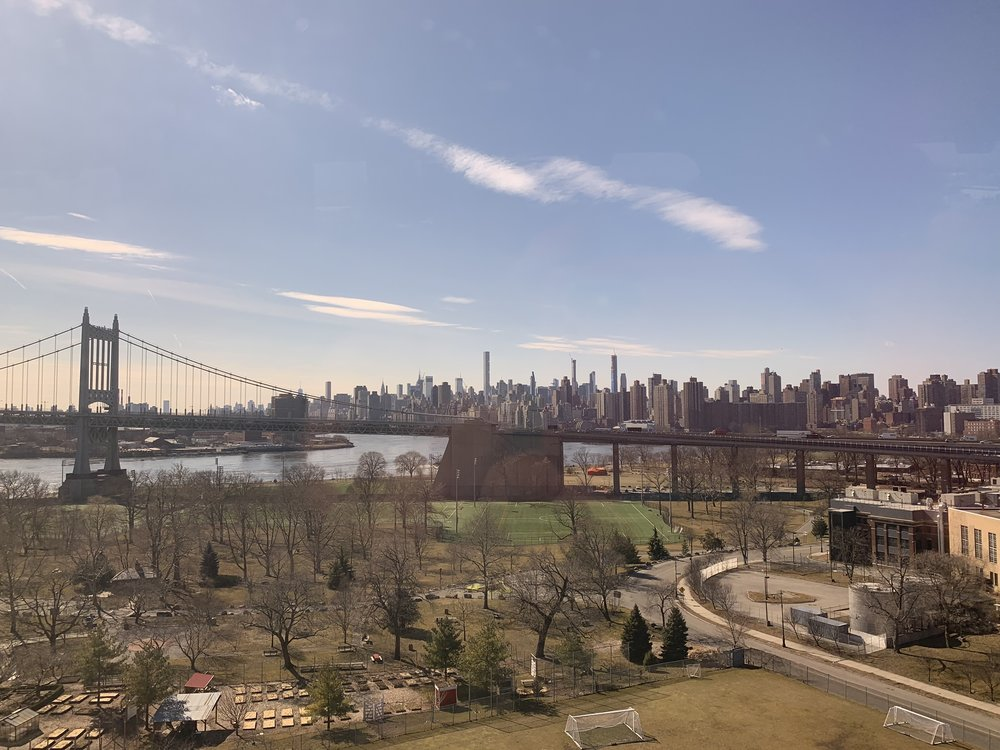 The view of New York as I approached it last Tuesday.