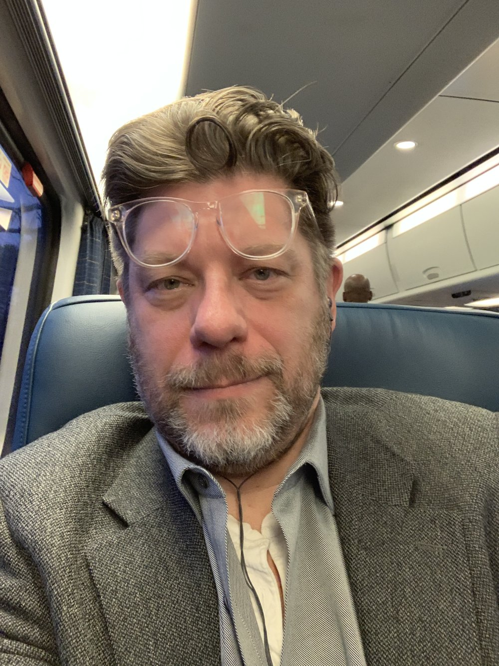 Sur le train.