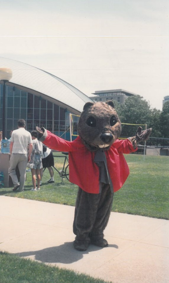 In the OLD Tim the Beaver costume during Reunions, 1991. Never again!