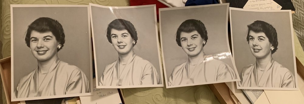 Mother's engagement photos for the newspapers. I htink the one at far left was the one that was used.