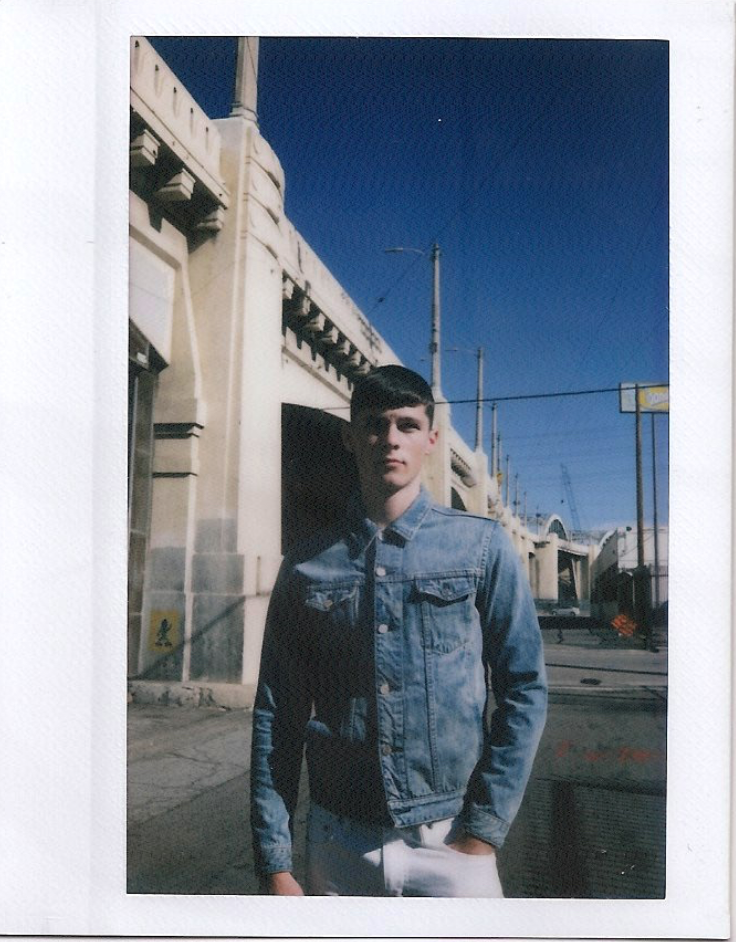 "Model Dallas Haupt wearing the ""Cobain""              Location: Arts District Downtown LA, California"