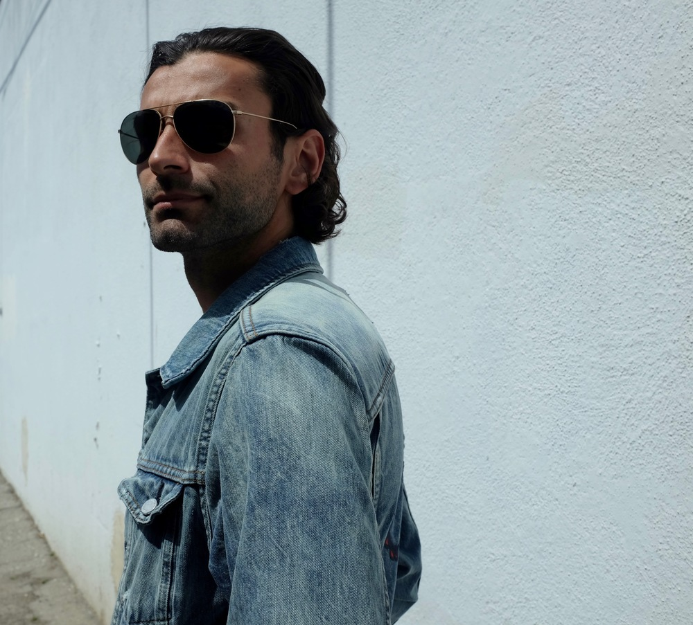 "Baggio Husidic wearing the ""Cobain""                                        Location: Venice Beach, California"