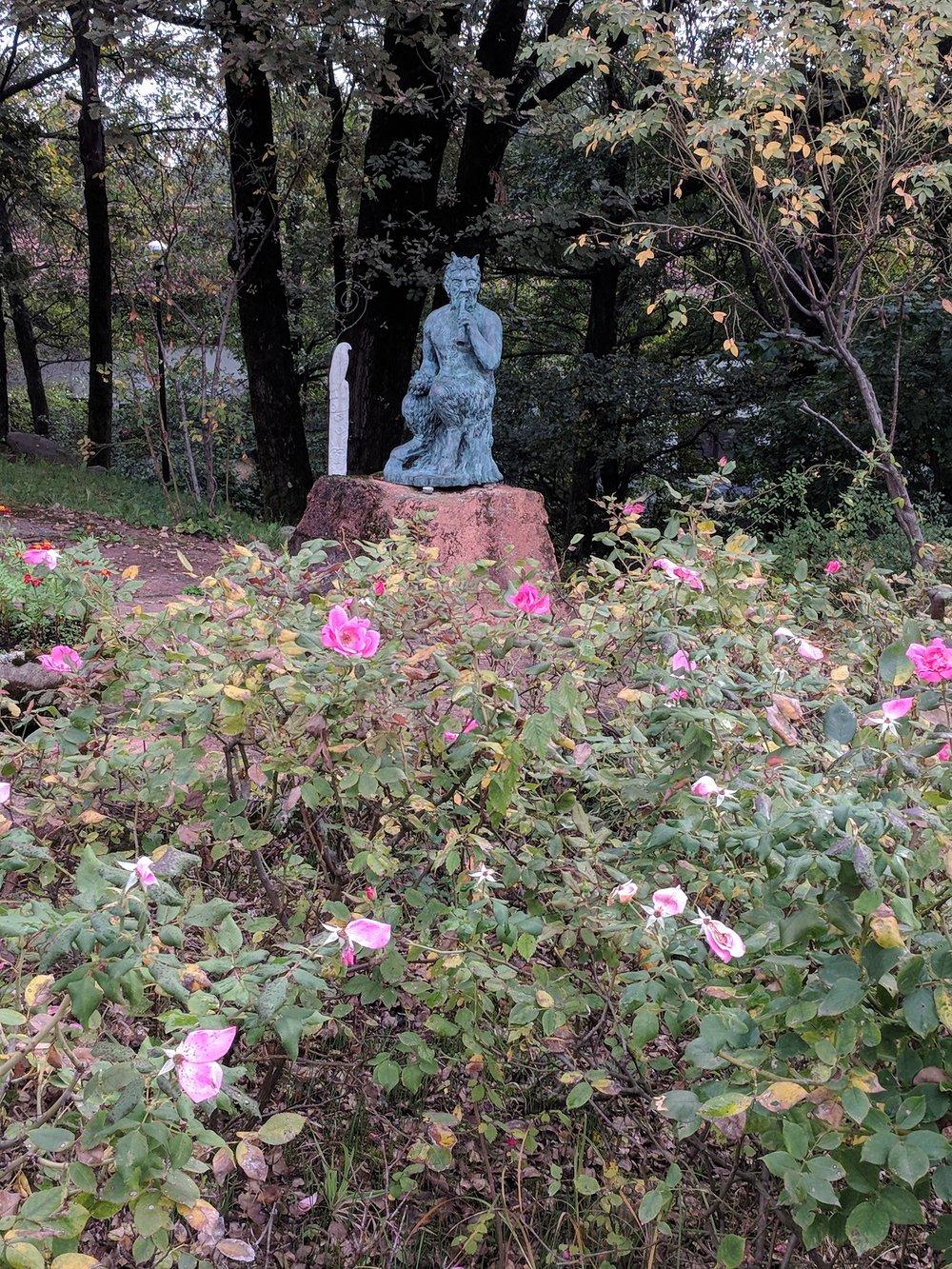 Pan Sculpture in Damjl