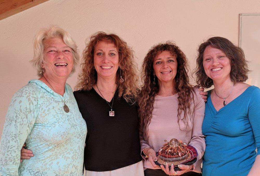 Pam Montgomery, Esperide Ananas, Antelope Verbena, and Jen Frey with a Spheroself