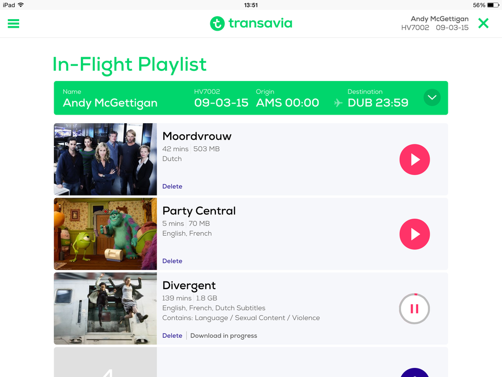 In-flight Playlist