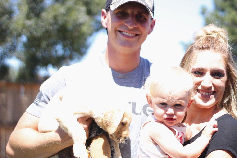 Puppy Bo and Stevenson family