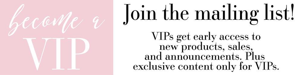 Become a Peony Printshop VIP today!