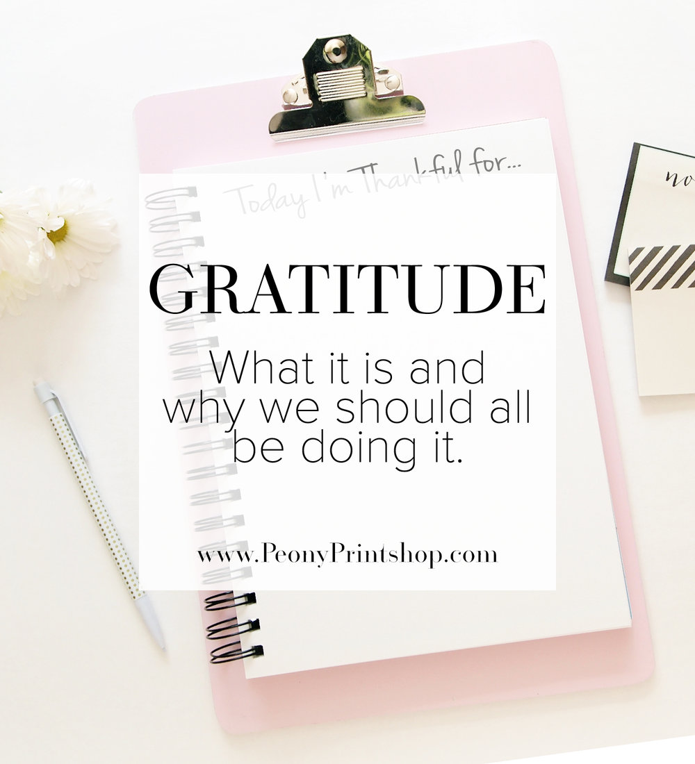 Gratitude is...  |  PeonyPrintshop.com