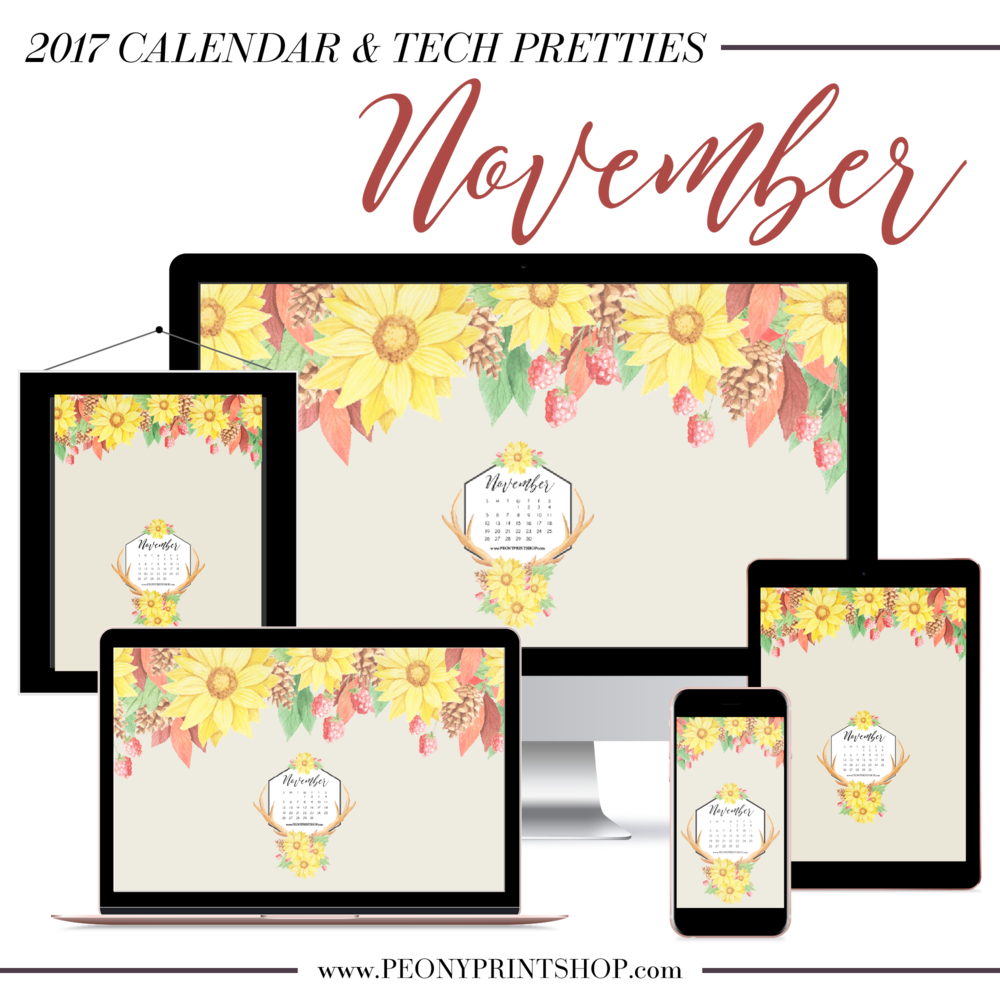 2017 November Tech Pretties  |  PeonyPrintshop.com